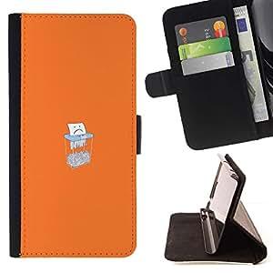 Momo Phone Case / Flip Funda de Cuero Case Cover - Sad Paper Shredding - HTC One Mini 2 M8 MINI