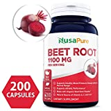 Best Beet Root 605mg 200caps (NON-GMO & Gluten Free) - Lower Blood Pressure