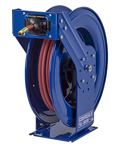 Coxreels Truck Series Maximum-Duty Air Hose Reel, Max. 300 PSI, Model# TSH-N-475,Blue 1/2
