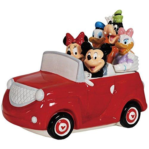 - Westland Giftware Ceramic Cookie Jar, 8.5-Inch, Disney Mickey and Friends Road Trip