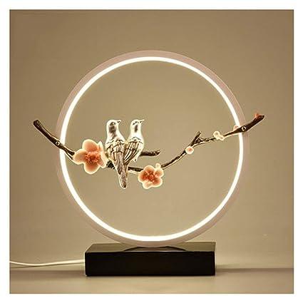 Amazon.com: PPWAN Table Lamp Bedroom Bedside Counter Lamp ...