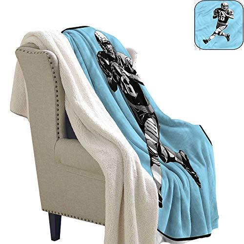 (Williasm Sports Blanket Small Quilt American Football Retro 60x78 Inch)