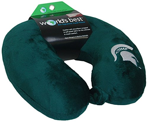 - World's Best NCAA Feather-Soft Microfiber Neck Pillow, Michigan State Spartans