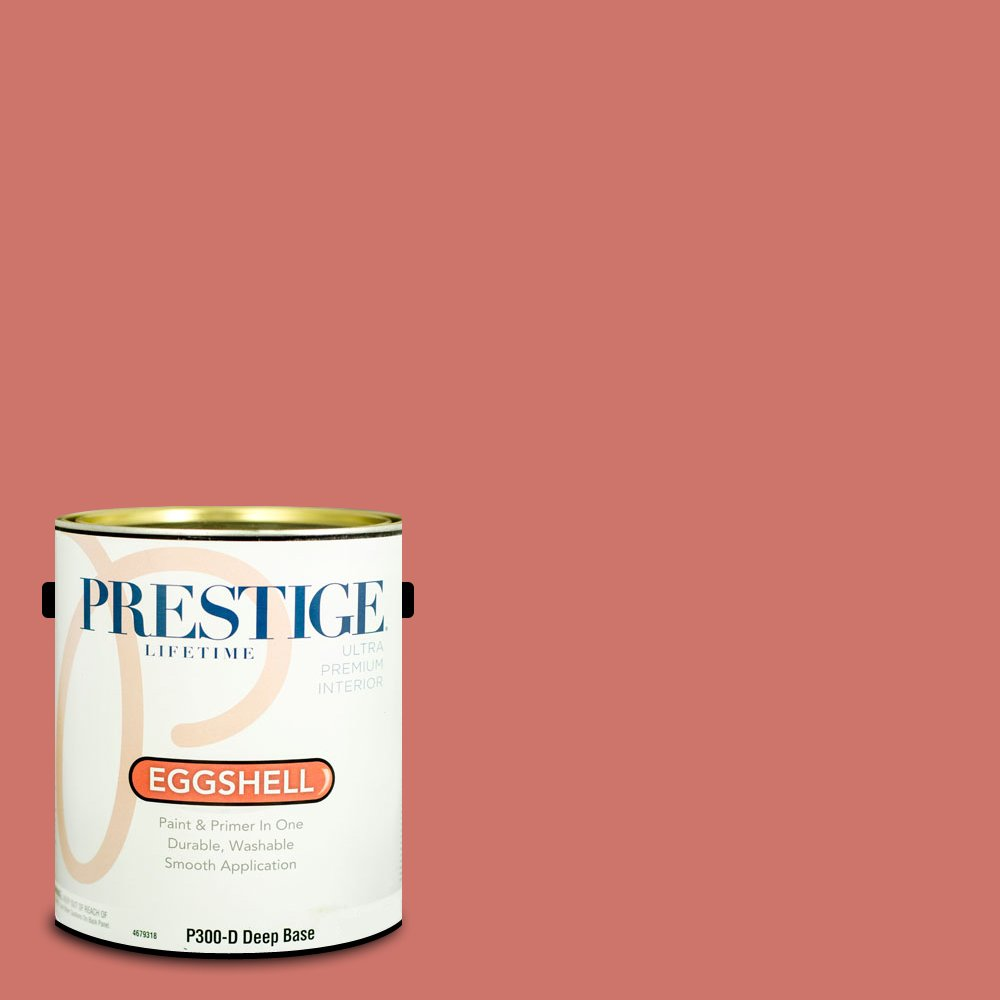 Prestige Paints Interior Paint and Primer In One, 1-Gallon, Eggshell,  Comparable Match of Benjamin Moore Coral Bronze by Prestige Paints
