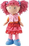 HABA Lilli-Lou 12' Soft Doll with Pink Hair in Pigtails, Blue Eyes and Embroidered Face for Ages 18 Months and Up