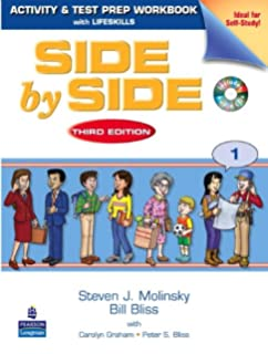 Amazon side by side student book 1 third edition side by side 1 activity test prep workbook with 2 audio fandeluxe Choice Image
