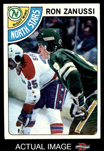 1978-topps-252-ron-zanussi-north-stars-hockey-card-deans-cards-6-ex-mt-north-stars