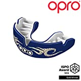 Opro Power-Fit Mouthguard | Adult Handmade Gum Shield for Football, Rugby, Hockey, Wrestling, and Other Combat and Contact Sports - 18 Month Dental Warranty (Ages 10+) (Urban Blue)