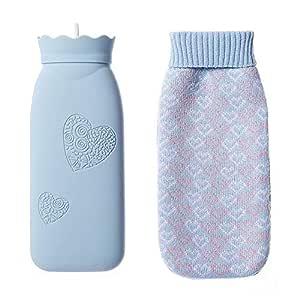 Botella de agua caliente de silicona con tapa microondas ...