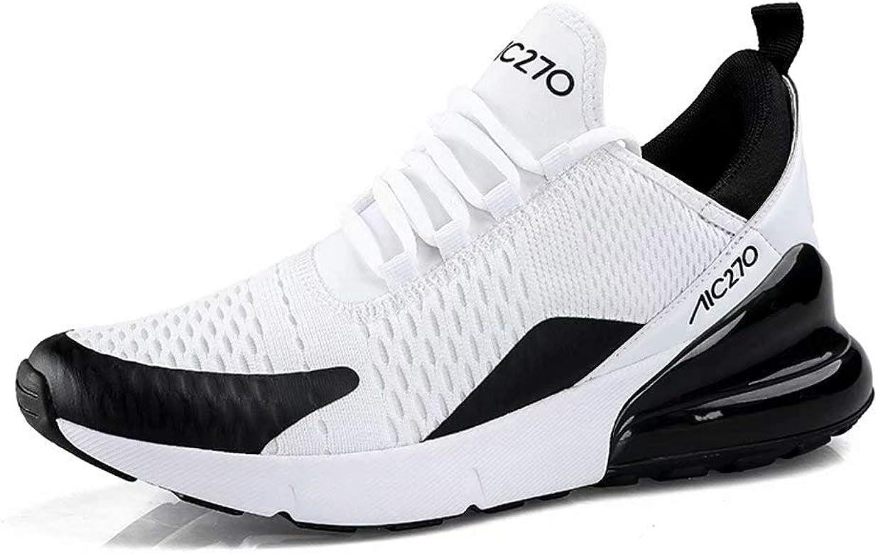 Zapatillas Running Hombre Antideslizantes Ligeras Zapatillas de Correr Casual para Deportivas de Malla Blanco+Negro 43: Amazon.es: Zapatos y complementos