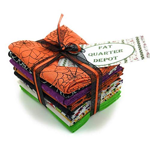 Halloween Assorted Cotton Fat Quarters 8 Pieces