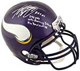 Sports Memorabilia Adrian Peterson Minnesota Vikings Autographed Replica Helmet with Multiple Inscriptions