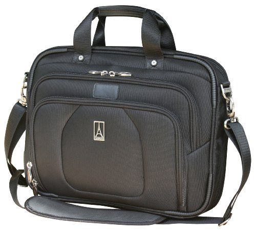 Travelpro Luggage Crew 9 Slim Business Brief, Black, One Size by Travelpro