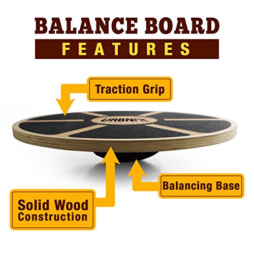 URBNFit Balance Board Core Trainer (Wood) Increase Stability, Strength and Flexibility Ballet and Dance trainer