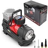 Tcisa 12V DC Portable Air Compressor Pump - Upgraded Digital Tire Inflator with Gauge 140W 120 PSI