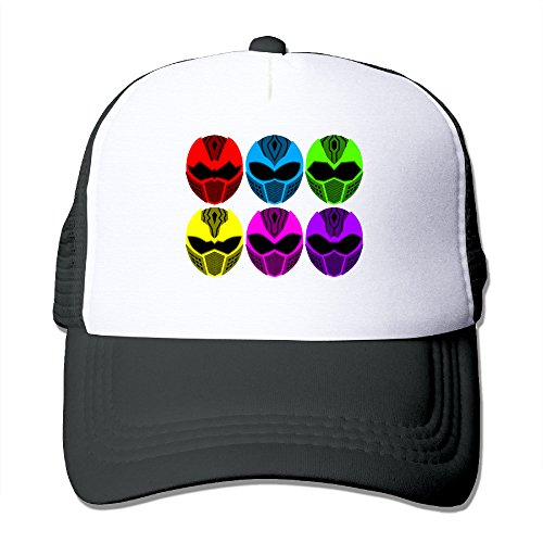 Black Dino Thunder Power Ranger Costume (Elnory Power Rangers Unisex Adjustable Baseball Cap Black)