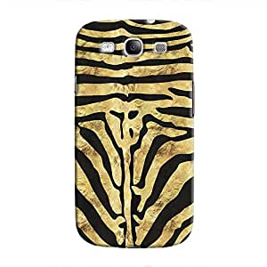Cover It Up - Brown Zebra Black Galaxy S3 Hard Case