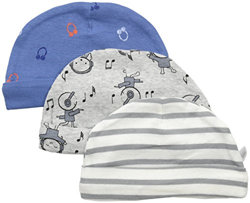 Rosie Pope Baby Hats 3 Pack, Blue Guitar, 0-3 Months