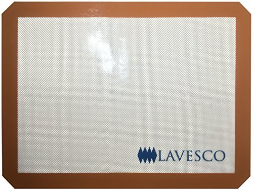 Investment Lavesco Half-Sheet Silicone Baking Mats - Premium Professional Non-Stick Food Grade Silicone With Fibergass Mesh - FDA, LFGB, ROHS and ISO Approved - NonStick Liners for Macarons, Pastry, Cookie, Etc compare