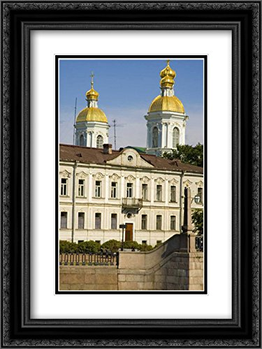 Russia, St Petersburg Dome of Sailors Cathedral 2X Matted 18x24 Black Ornate Framed Art Print by Ross, Nancy - Steve (Petersburg St Galleria)