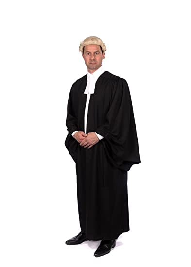 Barristers Gown, Wig and Band/Collarette Set: Amazon.co.uk: Clothing
