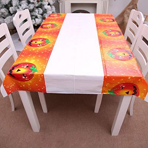 Birthday Map - Waterproof Halloween Pumpkin Table Cover Tablecloth Party Decoration Pe Cloth 180x108cm - Tableware Party Disposable Disposable Party Tableware Table Linen Halloween Platter De