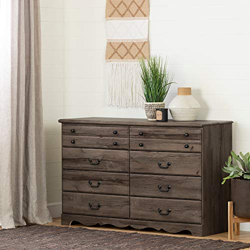 South Shore 11915 Prairie 8-Drawer Double Dresser, Fall Oak ()
