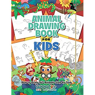The Animal Drawing Book for Kids: How to Draw 365 Animals, Step by Step (Woo! Jr. Kids Activities Books)