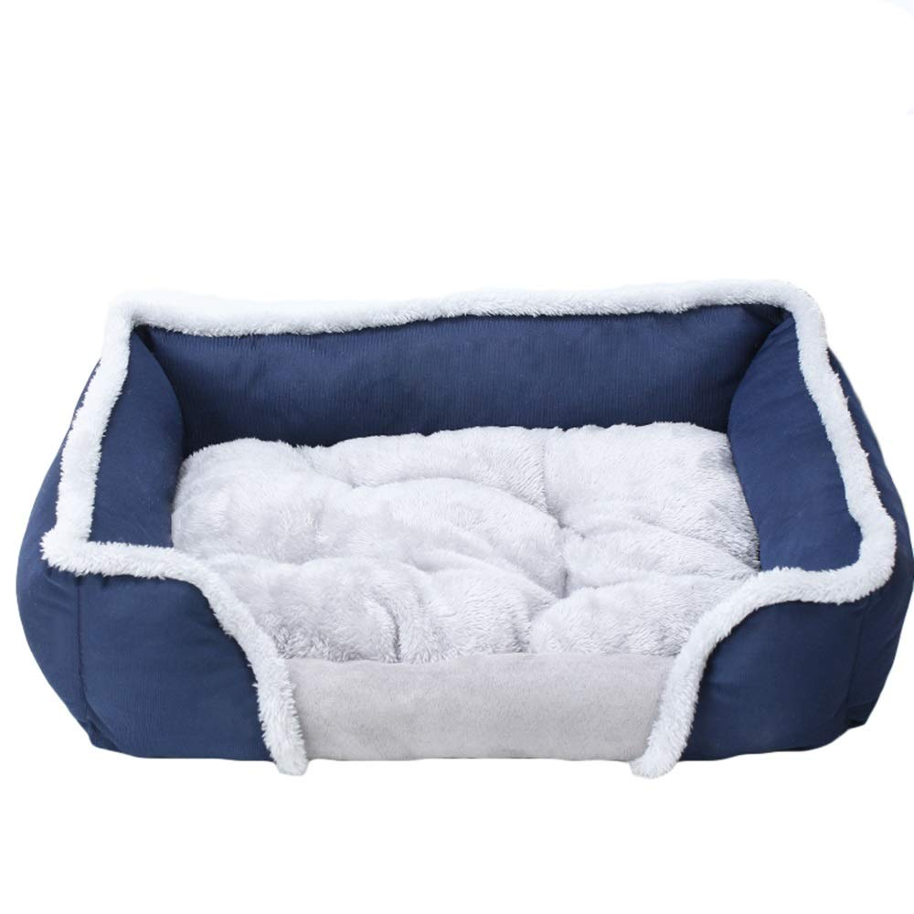 bluee 5545cm bluee 5545cm Pet nest, felt cloth, cotton wool, soft, suitable for cats, dogs, small animals, etc. (color   bluee, Size   55  45cm)