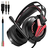 ANRIS ONIKUMA M180 PS4 Gaming Headset Over Ear Stereo Bass Gaming Headphone with Noise Isolation Microphone for PS4 Xbox One S PC Mobile Phones