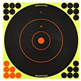 SHOOT-N-C 12 Inch Bullseye Targets - 5 Count Pack with 120 Pasters