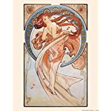 Posters: Alphonse Mucha Poster Art Print - The Dance, 1898 (20 x 16 inches)