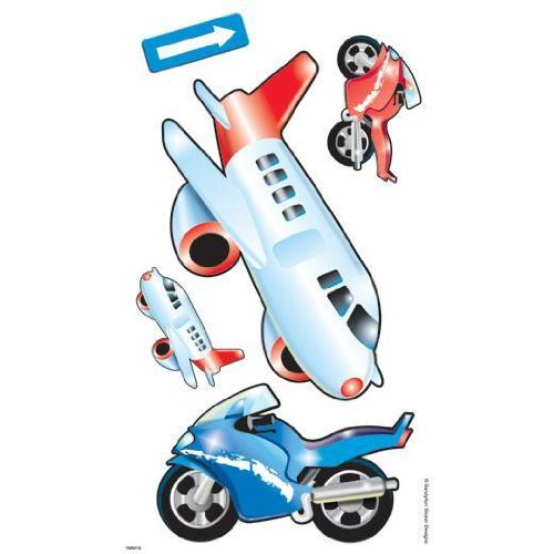 Transportation Cars, Planes, Firetrucks - 20 Large Wall Stickers / Wallies
