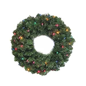 NOMA/INLITEN-IMPORT 60091-88 24-Inch Multi Light Wreath