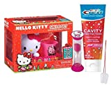 ''Hello Kitty'' Inspired 5pc Smile Gift Set! Includes Toothbrush, Toothpaste, Toothbrush Holder, Brushing Timer & Rinse Cup! Plus Bonus Tooth Saver Necklace!
