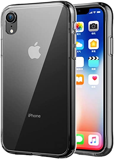 Spilay Clear iPhone XS MAX Case, Thin Glass Back Cover and Soft Silicone Frame: Amazon.es: Ropa y accesorios
