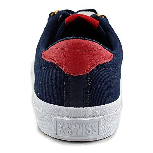 K-Swiss Irvine T, Women's Low-Top Sneakers Blue - Blau (Dress Blues/Ribbon Red/Dark Gum)
