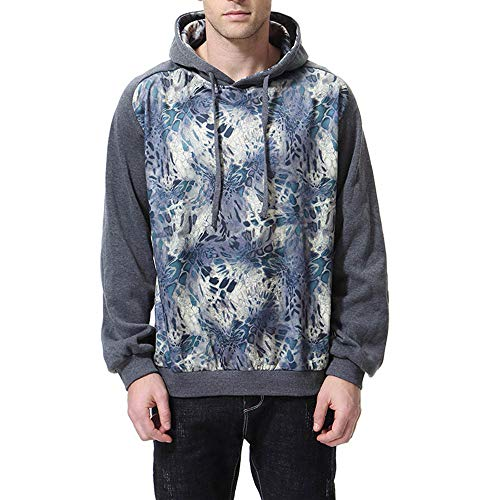 Chaofanjiancai Men's Hooded Sweatershirt Autumn Winter Print Long