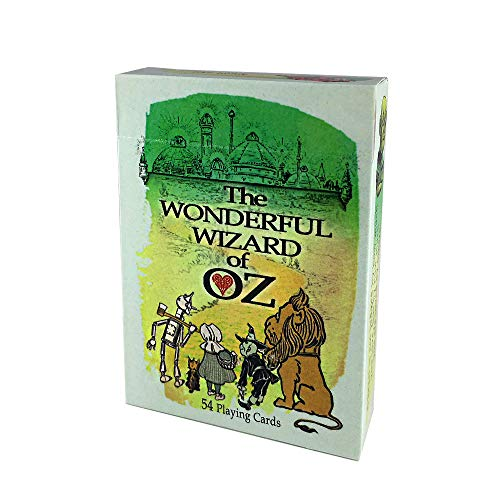 Rodaruus Wizard of Oz Playing Cards, Full 54 Poker-Size Card Deck (Green)