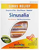 Boiron Sinusalia, Pack of 2 80-Pellet Tubes, Homeopathic Medicine for Sinus Relief
