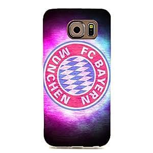 for Samsung Galaxy S6 Edge FC Bayern Munchen 3D Colourful Design Hard Plastic Phone Case for FC Bayern Logo