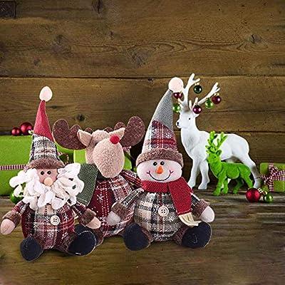Casa Navidad Decoración Muñeca, lindo Papá Noel muñeco de nieve ...