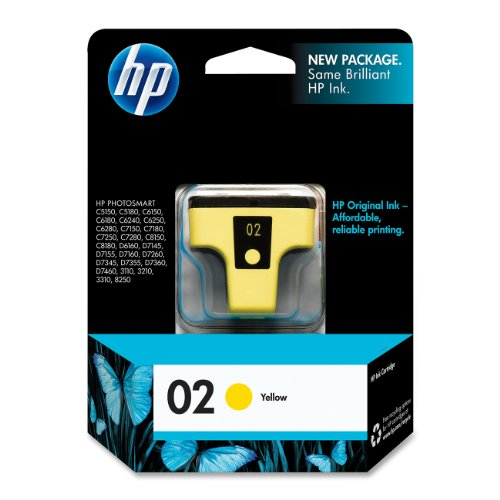 HP 02 Yellow Original Ink Cartridge (C8773WN)