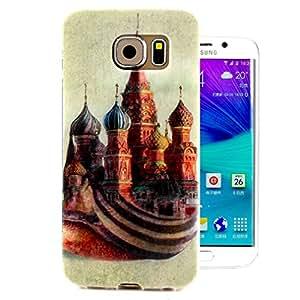 Para Galaxy S6 edge , ivencase Teléfono Móvil Funda Carcasa Tapa Case Cover Retro Style Flexible Suave TPU Protectora Perfecto Fit Para Samsung Galaxy S6 edge SM-G925