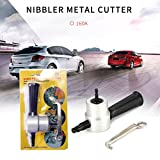 ALLOMN Double Head Sheet Nibbler Metal Cutter Professional 360 Degree Drill Attachment Car Modification Metal Cutting Tool