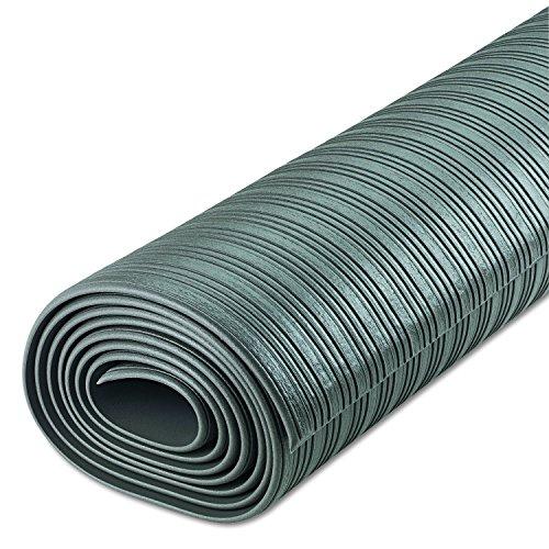 Crown FL3610GY Ribbed Anti-Fatigue Mat, Vinyl, 36 x 120, Gray