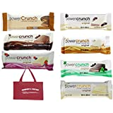 Power Crunch High Protein Energy Snack1.4-Ounce Bars (Pack of 12), Variety Pack of 7 Delicious Flavors And Bonus Tote,
