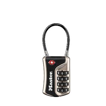 Master Lock 4697eurdnkl Cadenas TSA à Combinaison pour Valise, Argent 990c1e1ba57