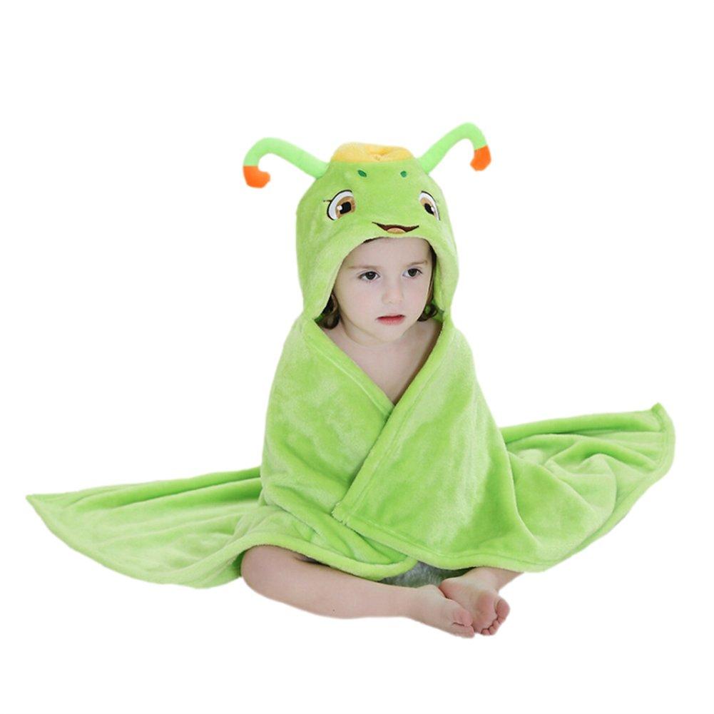 CuteOn bébé Garçons Filles Ultra-doux Flanelle Bain Serviette Robe - Avec Capuche - bébé Peignoir de bain Couverture Chat