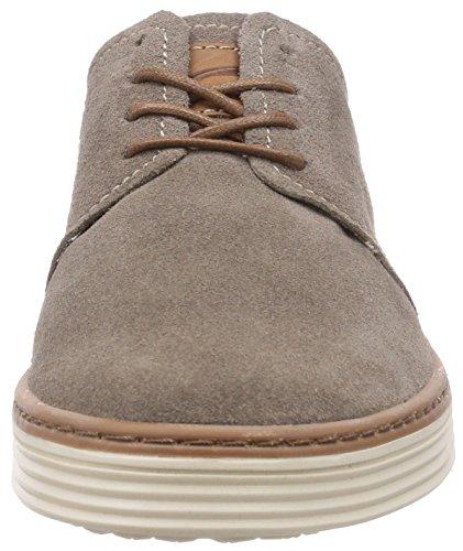 camel active Copa 21 - Zapatos con cordones de cuero Hombre Gris (taupe/brandy)